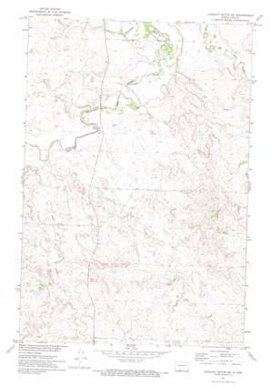 Lookout Butte Se topo map