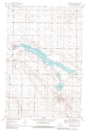 Sheyenne Lake topo map