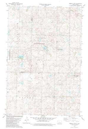 Siebold Lake topo map