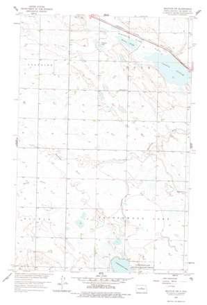 Balfour Nw topo map