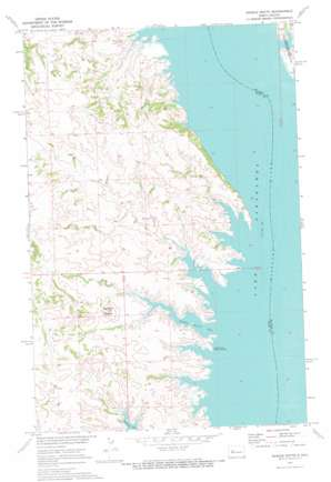 Saddle Butte topo map