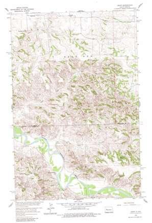 Croff topo map