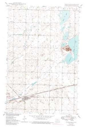Granville topo map