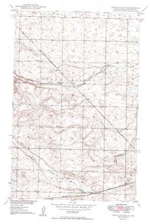 Granville Sw topo map