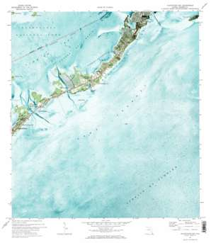 Plantation Key topo map
