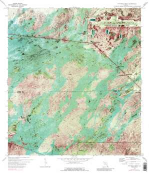 Fiftymile Bend topo map