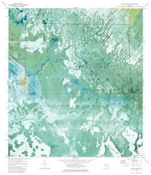 Chokoloskee USGS topographic map 25081g3