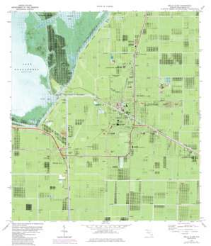 Belle Glade topo map