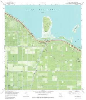 Lake Harbor USGS topographic map 26080f7