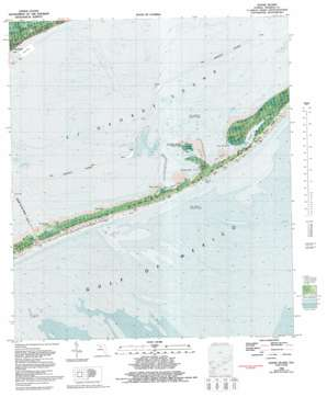Goose Island topo map