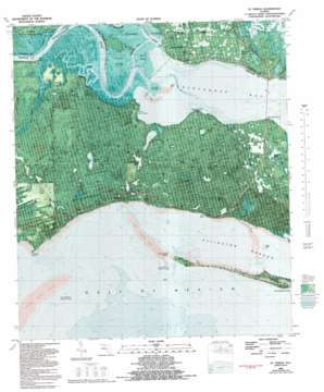 Saint Teresa Beach topo map