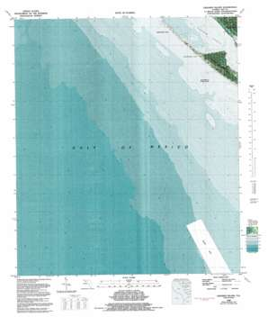 Crooked Island topo map