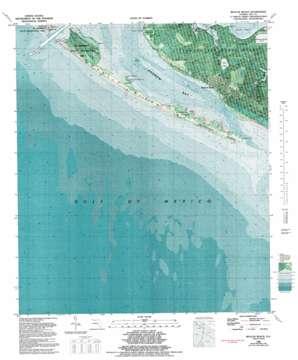 Beacon Beach topo map