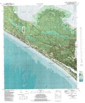 Panama City Beach topo map
