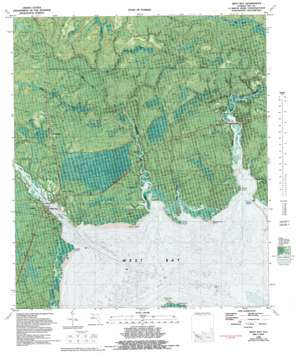 West Bay topo map