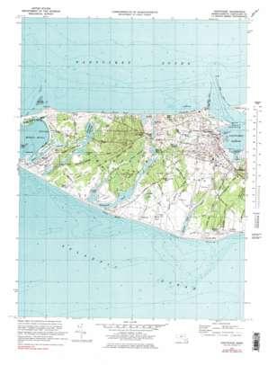 Nantucket topo map