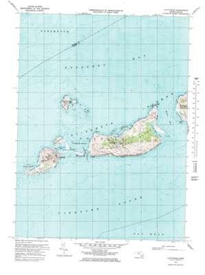 Cuttyhunk topo map