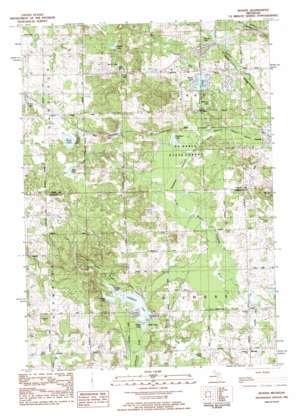 Woods topo map