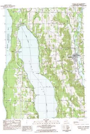 Central Lake topo map
