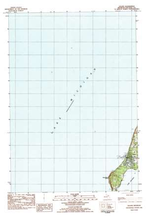 Leland topo map