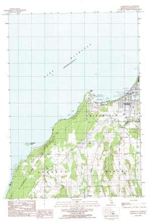 Charlevoix topo map