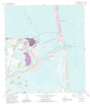 Port Isabel topo map