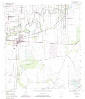 Los Fresnos USGS topographic map 26097a4