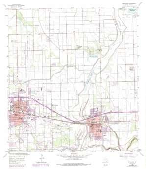 Mercedes USGS topographic map 26097b8