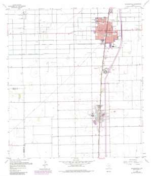 Raymondville USGS topographic map 26097d7
