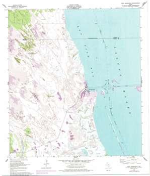 Port Mansfield topo map