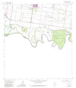 Las Milpas topo map