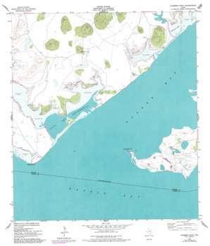 Kleberg Point topo map