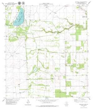 Escondido Lake USGS topographic map 27097d8