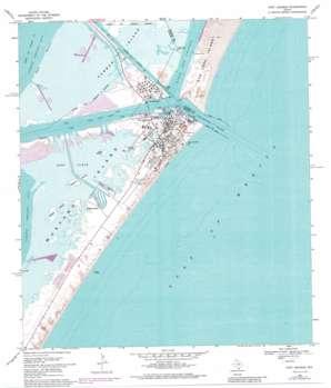 Port Aransas USGS topographic map 27097g1