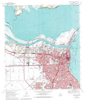 Corpus Christi topo map