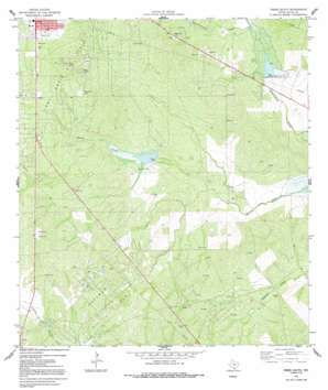 Freer South topo map