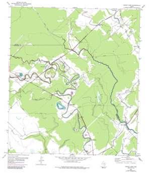 Cedar Lane topo map