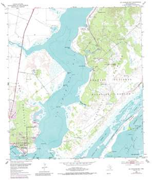 Saint Charles Bay USGS topographic map 28096b8
