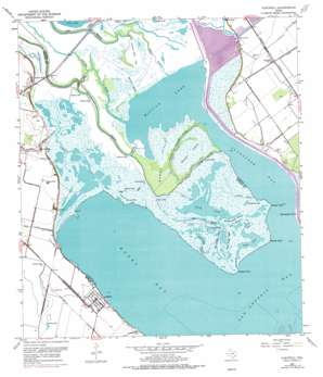 Austwell topo map