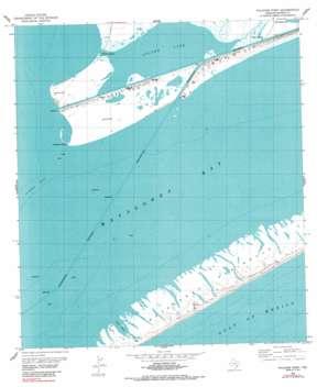 Palacios Point topo map