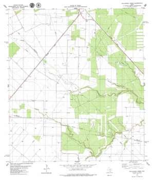 Bullshead Creek USGS topographic map 28097b6