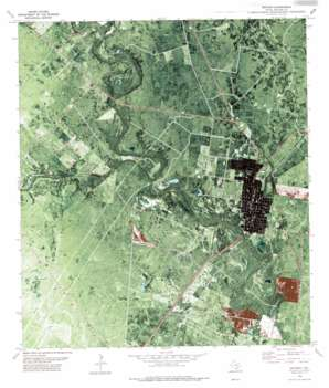Refugio USGS topographic map 28097c3