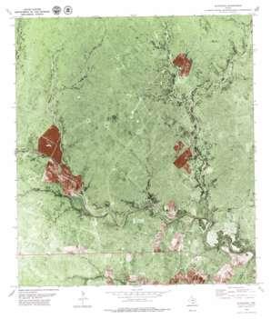 Blanconia topo map