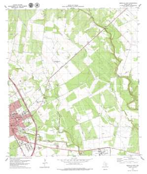 Beeville East USGS topographic map 28097d6