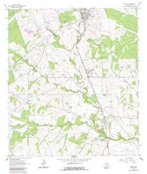 Tuleta topo map