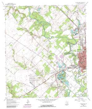 Victoria West topo map