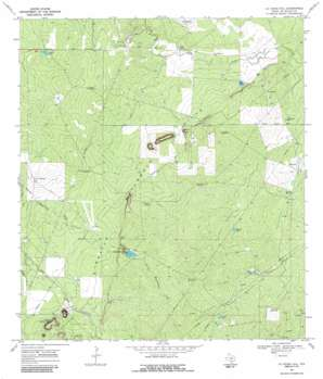 La Chusa Hill topo map