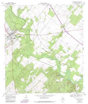 George West topo map