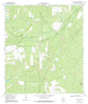 San Caja Hill topo map