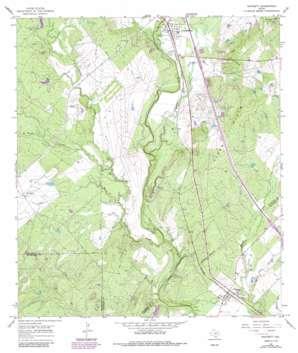 Whitsett topo map